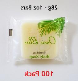 100 Pcs Bulk Hotel Soap Bars - 1 oz Travel Size Bar Soap - H