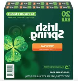 20 Bar Irish Spring Original Deodorant Soap  - Invigorating
