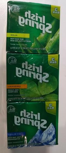 4 Packs Irish Spring Diff Scents Deodorant Soap, 3.7 Ounces,