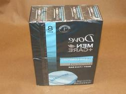 8 Dove Men + Care Body + Face Bar Clean Comfort Mild Formula