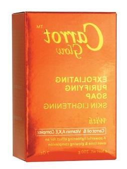 Carrot Glow Exfoliating Skin Lightening Soap 7oz