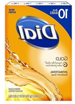 Dial Gold Antibacterial Soap Bar, 4-Ounce Bars, 10-Count