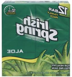 Irish Spring Bath Bar Soap, Aloe, 3.75 oz Bars, 12-Count