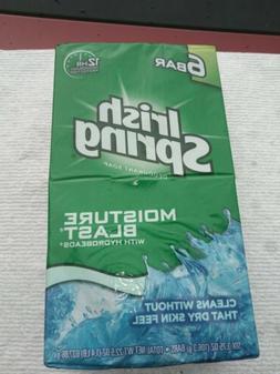 Irish Spring Deodorant Soap, Moisture Blast, Six 3.75 Oz. Ba