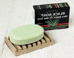 Madina African Black Soap Shea Butter and Aloe Vera, 3.5 oz
