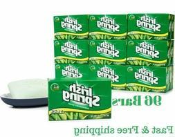 Irish Spring Aloe Deodorant Bar Soap 96 Bars bulk   Free Shi