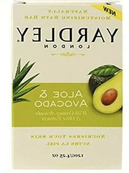 Yardley London Bar Soap Aloe Vera and Avocado 4.25 oz Bar