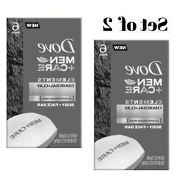 Bar Soap Body Face Moisturizer Charcoal Clay Dove Men+Care E