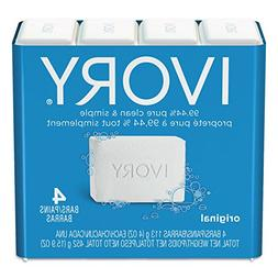 Ivory Bar Soap, Original 4 oz, 4 bars