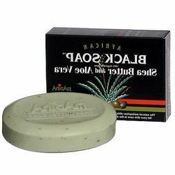 1 Bar -Madina -African Black Soap - Shea Butter & Aloe Vera