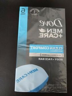 Dove Men+Care Clean Comfort Body and Face Bar, 4 oz, 6 Bar