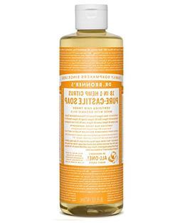 Castile Liq Sp, Organic, Citrus, 16 oz