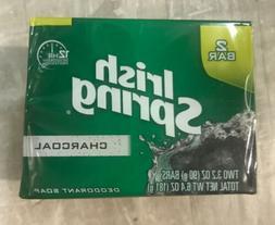 Irish Spring Charcoal Deodorant Soap 3.2 Oz Bars 1 Pack 2 Ba