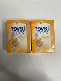 Lever 2000 Citrus Fresh Bar Soap Sealed Set Of 2 New Old sto