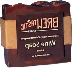 Brewtastic Soaps Classic Wine Soap for Women, Handmade Natur
