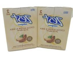 Zest Indulgence Cocoa Butter Shea Moisturizing Bar Soap 3.2