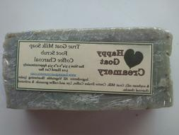 COFFEE CHARCOAL GOAT MILK SOAP HAPPY GOAT CREAMERY UNSCENTED
