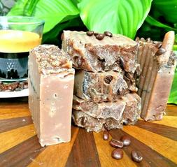 COFFEE HANDMADE SOAP- SHEA BUTTER CAFFEINE Bar soap- Olive S
