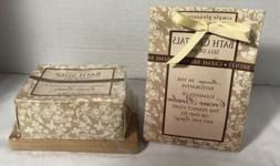 Simple Pleasures Creme Brulee Bath Crystals & Bar Soap Set