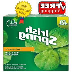 Irish Spring Deodorant Hand Bar Soap 4 oz  Bars 20 ct Value