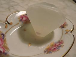 "Diamond-Shaped Soap w/Embedded Gemstone, 1.5"", UNIQUE Gift/F"