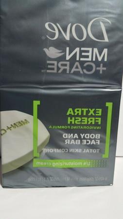 Dove Extra Fresh Body Face Bar Soap Invigorating Formula Men