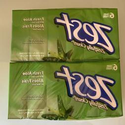 Zest Fresh Aloe Bar Soap 3.2 oz x 12 Bars   New and Sealed
