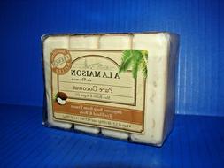 A La Maison de Provence Hand Body Bar Soap Pure Coconut  4 B