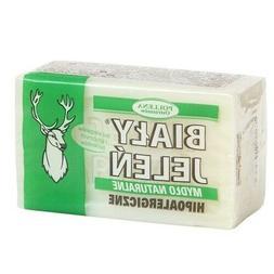 BIALY JELEN HYPOALLERGENIC NATURAL BAR SOAP MYDLO SZARE 150g
