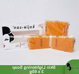 Kojie San Skin Lightening Kojic Acid Soap 65g x 3