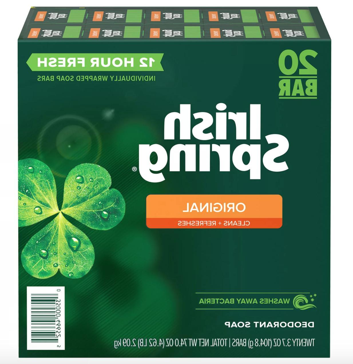 20 bar irish spring original deodorant soap