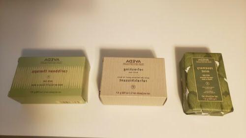 3 bar soap kit rosemary mint bath