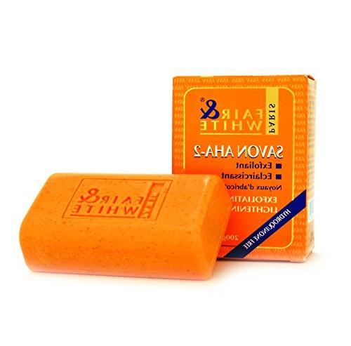 Fair & White Original AHA Exfoliating Soap, 200g / 7oz