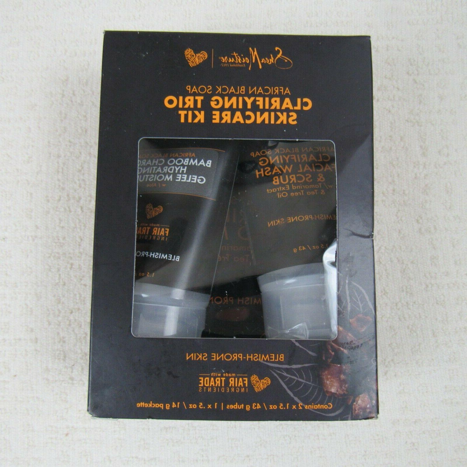 african black soap clarifying trio skincare kit