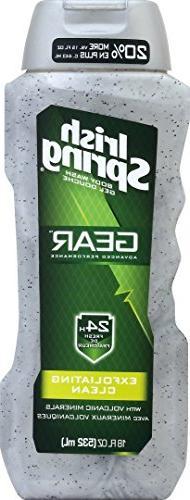 Irish Spring Gear Body Wash, Exfoliating Clean 18 oz