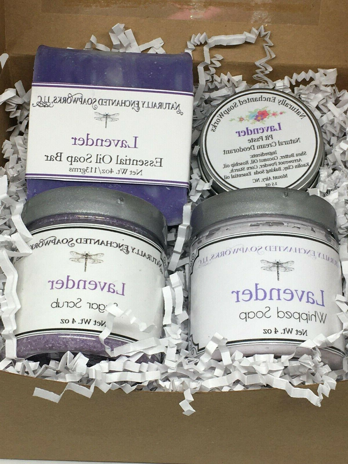 Lavender Bath Gift set Bar Soap Deodorant