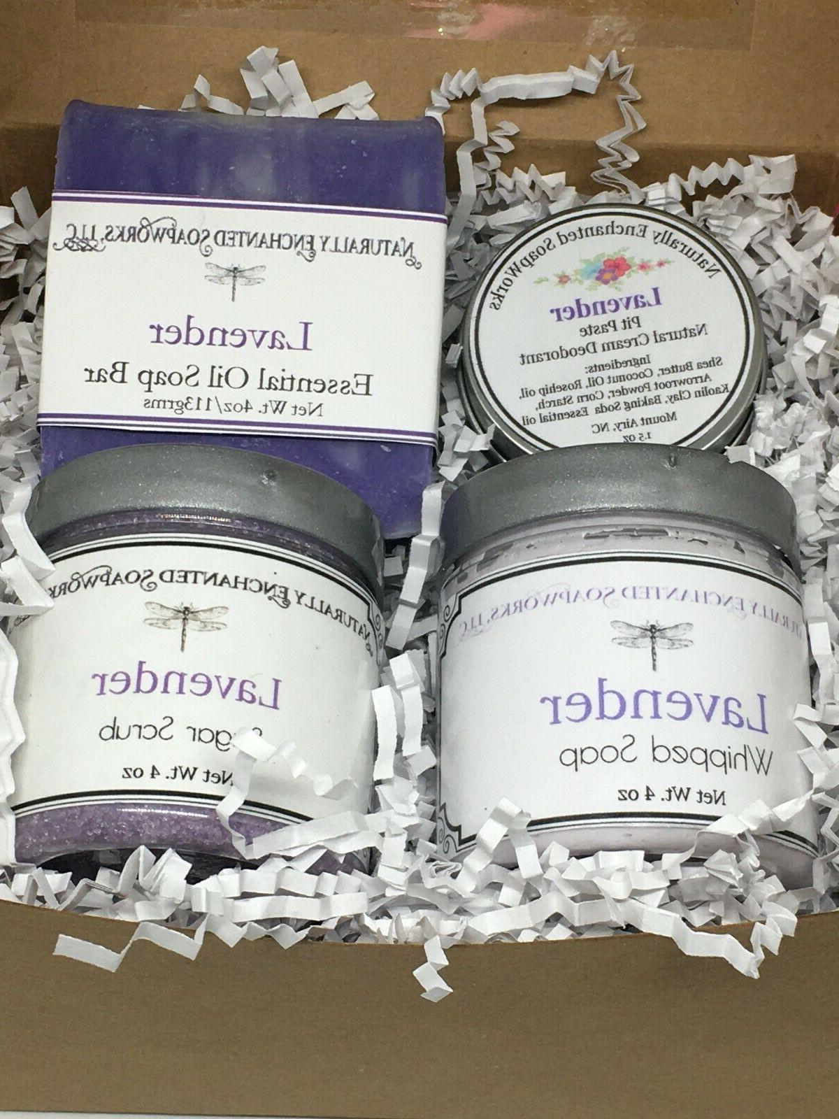 lavender bath gift spa set bar soap