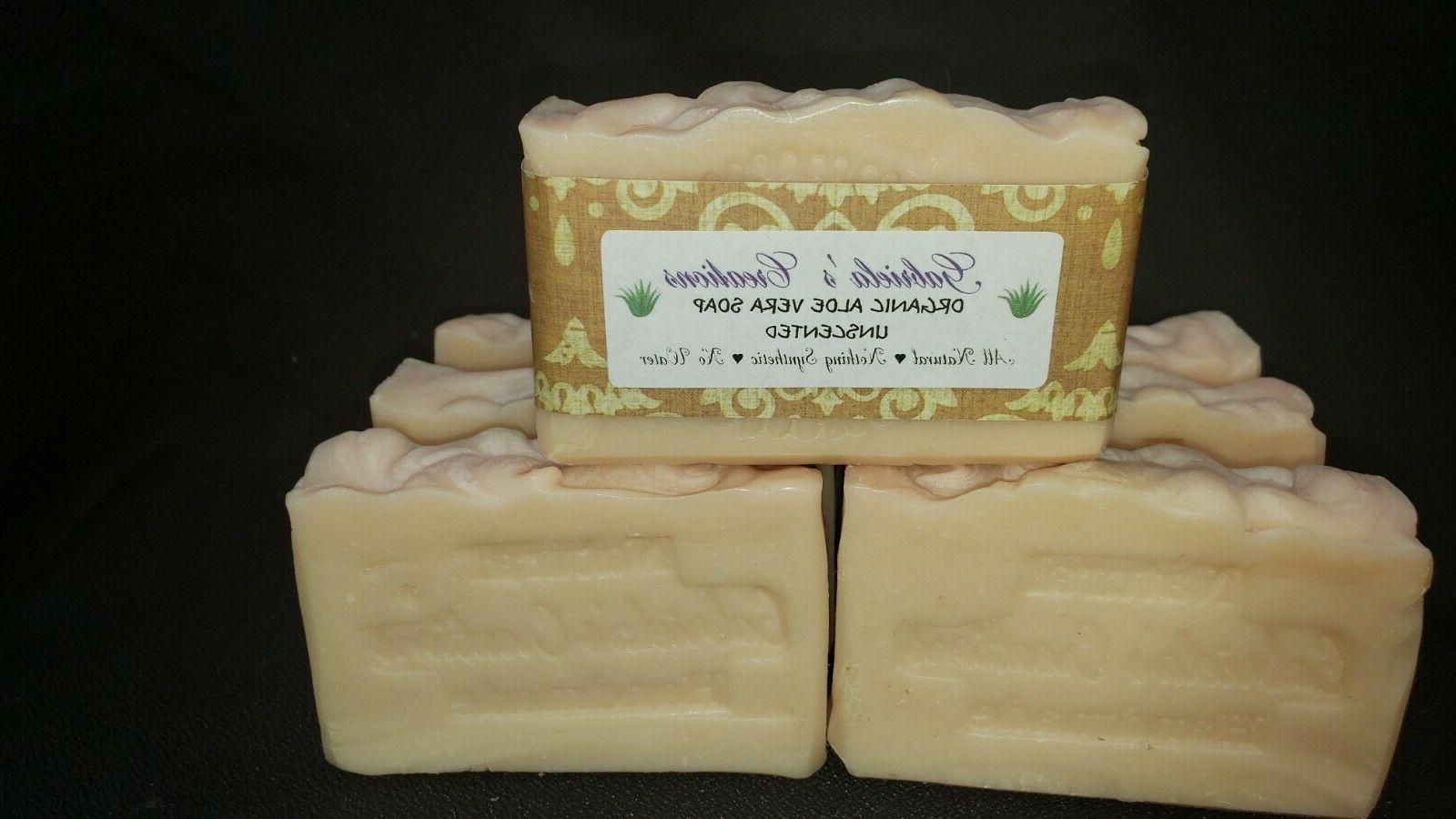 organic aloe vera natural soap handcraft no