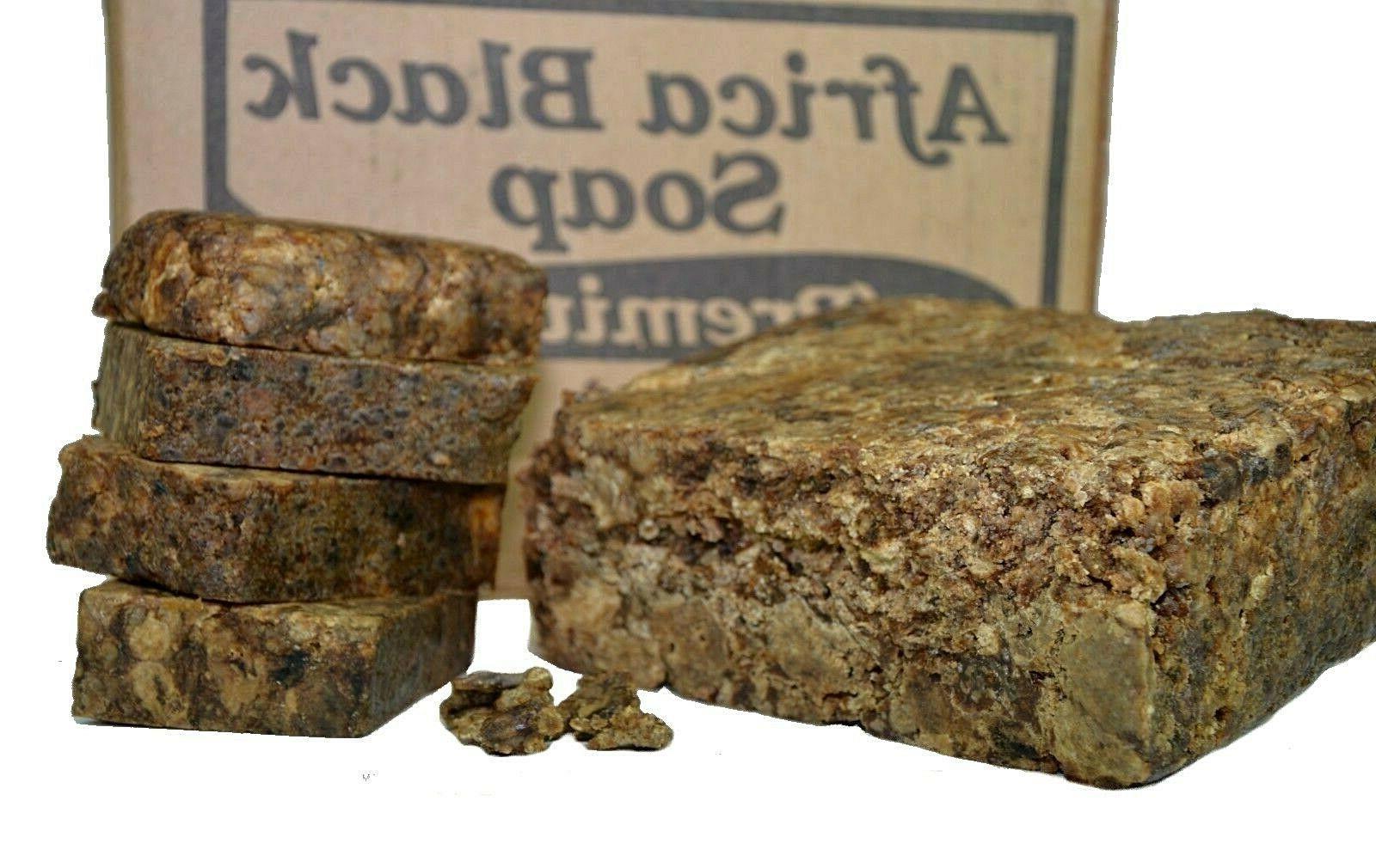 Raw Black Soap Organic lb. / Pure Ghana