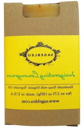sagebleu organic bar soap invigorating lemongrass all