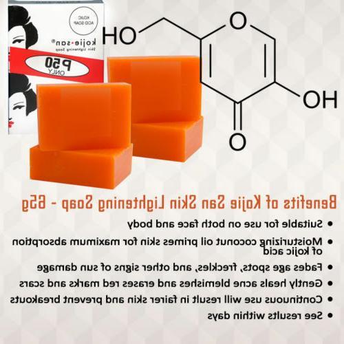 Kojie San Skin Lightening Bleaching Anti-Acne Kojic Soap 195g