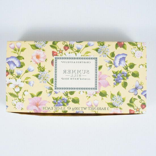 Crabtree & Evelyn Summer Hill Triple Milled Soap Set, 100g