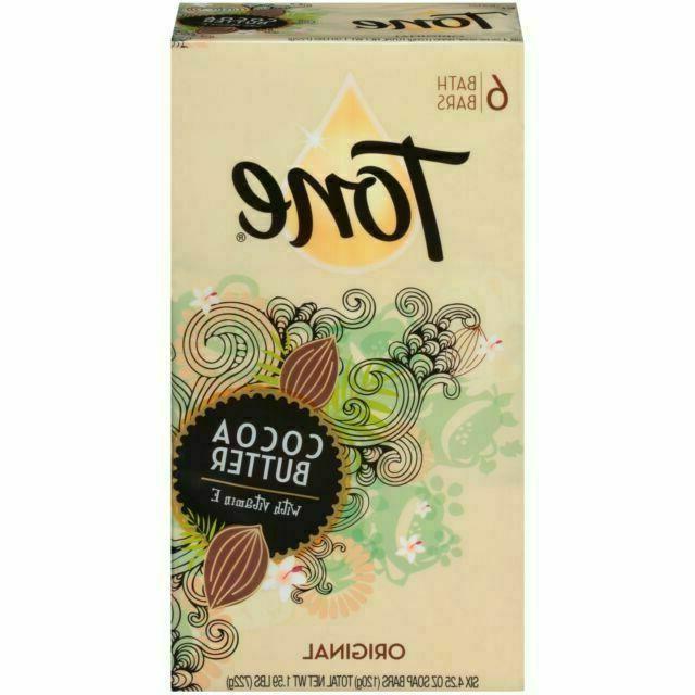 tone cocoa butter 4 25oz bar soap