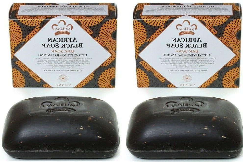 twin pack african black soap shea butter