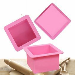 Large Cube Square Soap Candle Cake Jello Lotion Bar Silicone