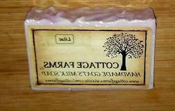 LILAC--Cottage Farms Goat's Milk Soap Handmade 6 oz. Bar