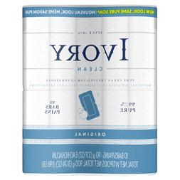 Lot 6 Packs Ivory Clean Original Personal Bar 3.17oz, 10 cou