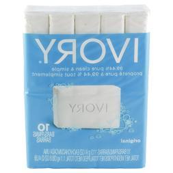 Lot 6 Packs Ivory Original Bath Size Bar Soap 4 oz, 10 bars