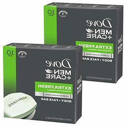 Dove Men+Care Body and Face Bar, Extra Fresh, 4 Ounce, 20 Co