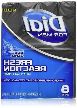 Dial for Men Fresh Reaction, Sub Zero Glycerin Bar Soap, 4 O